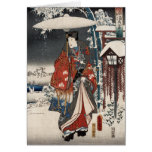 Modern Version of the Tale of Genji in Snow Scene Cards