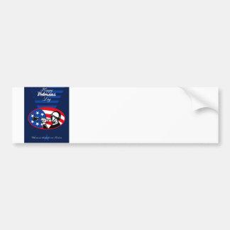 Modern Veterans Day American Soldier Greeting Card Bumper Sticker