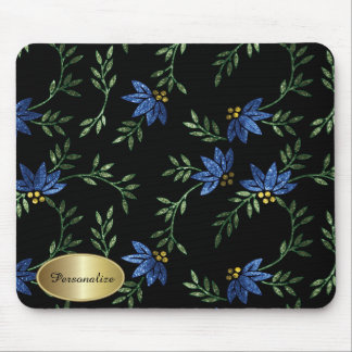 Modern Victorian Floral   Personalize Mouse Pad