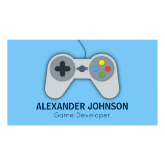Modern Video Game Developers, Designers, Animators Business Card