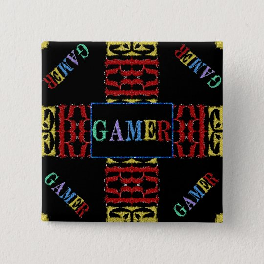 Modern Video Gamer Mosaic Button