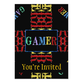 Modern Video Gamer Mosaic Personalized Announcement