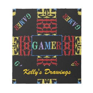 Modern Video Gamer Mosaic Notepad