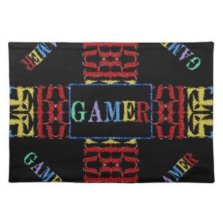 Modern Video Gamer Mosaic Cloth Placemat