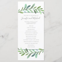 Modern Vines Botanical Wedding Program