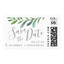 Modern Vines Botanical Wedding Save the Date Postage