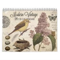 Modern Vintage 2019 calendar