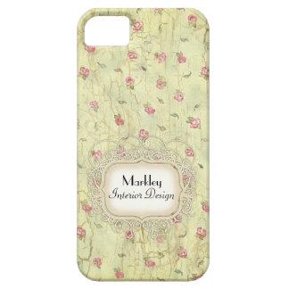 Modern Vintage Art Roses Tea Stained Aged Crackle iPhone SE/5/5s Case