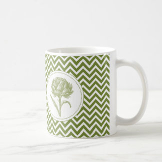 modern vintage artichoke coffee mug