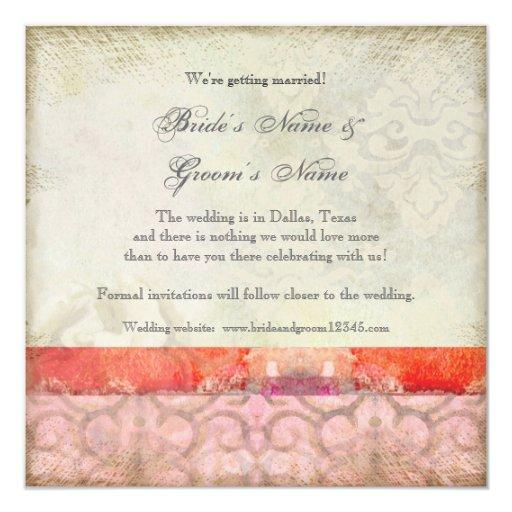 Modern Vintage Baroque Swirls, Save the Date Invitation
