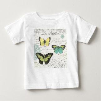 modern vintage botanical butterfiles baby T-Shirt