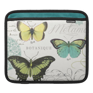 modern vintage botanical butterfiles sleeves for iPads