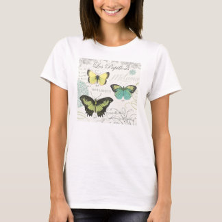 modern vintage botanical butterfiles T-Shirt