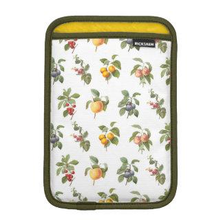 modern vintage botanical fruits iPad mini sleeves