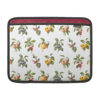 modern vintage botanical fruits MacBook air sleeve