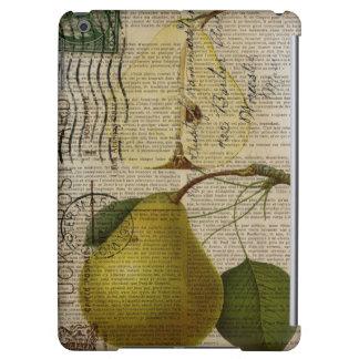 modern Vintage Botanical Print fruit pear Case For iPad Air