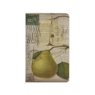 modern Vintage Botanical Print fruit pear Journal