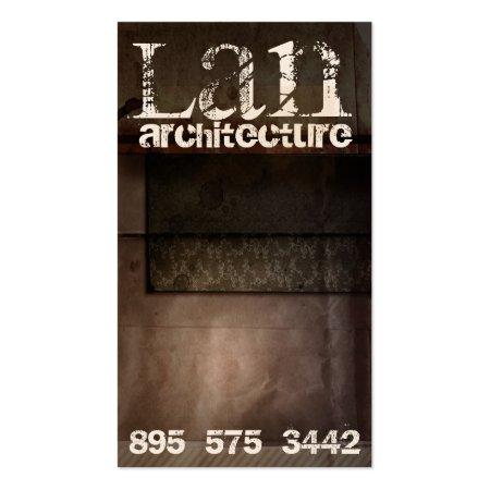 Modern Vintage Brown Architect Business Cards