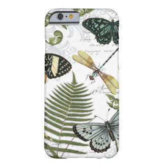 modern vintage butterflies and dragonflies barely there iPhone 6 case
