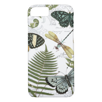 modern vintage butterflies and dragonflies iPhone 8/7 case
