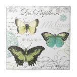 modern vintage butterflies ceramic tiles