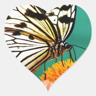 modern vintage butterfly garden heart sticker
