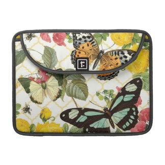 modern vintage butterfly garden sleeve for MacBook pro
