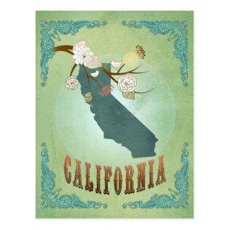 Modern Vintage California State Map – Sage Green Postcards