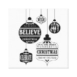 modern vintage Christmas ornaments Gallery Wrapped Canvas