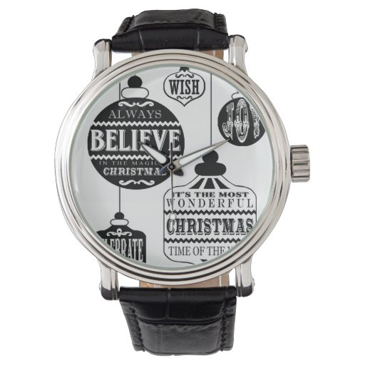 modern vintage Christmas ornaments Wrist Watches