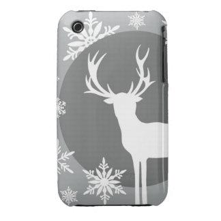 Modern Vintage Christmas Silhouette deer iPhone 3 Case-Mate Case