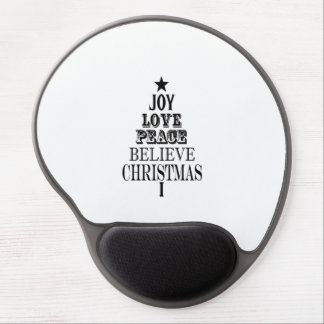 modern vintage christmas word tree gel mouse mats