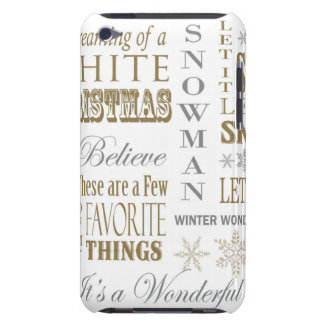 modern vintage christmas words Case-Mate iPod touch case