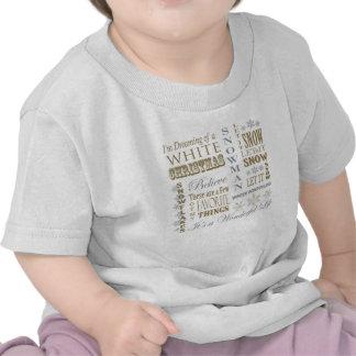 modern vintage christmas words tee shirts