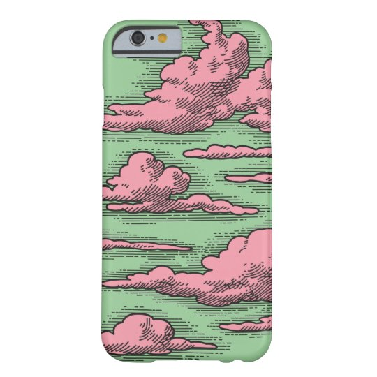 Modern Vintage Clouds Drawing iPhone Case