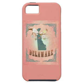 Modern Vintage Delaware State Map - Pastel Peach iPhone 5 Covers