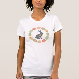 Modern vintage Easter bunny and eggs T-Shirt