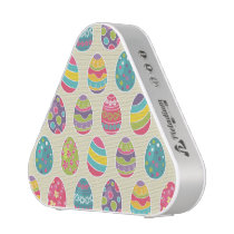 Modern Vintage Easter Eggs Decoration Pattern Bluetooth Speaker