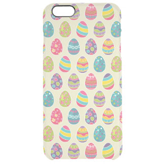 Modern Vintage Easter Eggs Decoration Pattern Clear iPhone 6 Plus Case