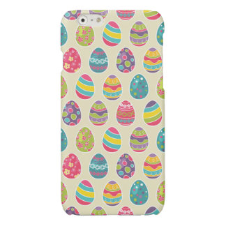 Modern Vintage Easter Eggs Decoration Pattern Glossy iPhone 6 Case