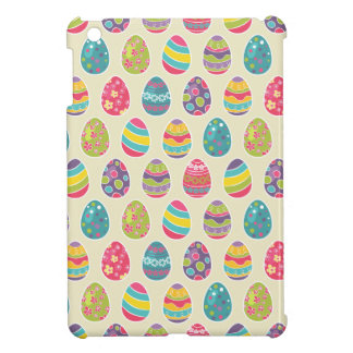 Modern Vintage Easter Eggs Decoration Pattern iPad Mini Cover