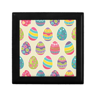 Modern Vintage Easter Eggs Decoration Pattern Jewelry Box