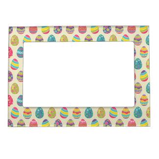 Modern Vintage Easter Eggs Decoration Pattern Magnetic Photo Frames