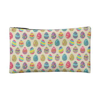 Modern Vintage Easter Eggs Decoration Pattern Makeup Bag