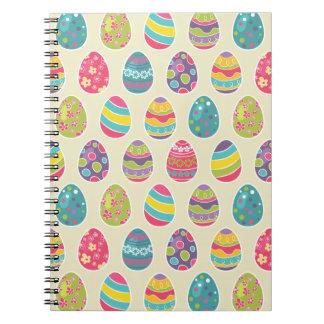 Modern Vintage Easter Eggs Decoration Pattern Notebook