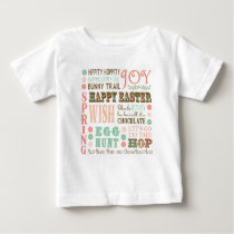 Modern Vintage Easter typography word collage Baby T-Shirt