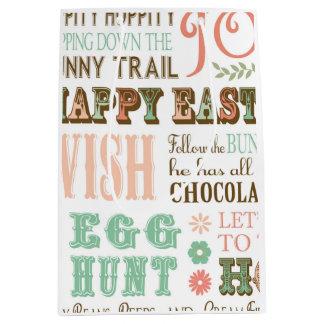 Modern Vintage Easter typography word collage Medium Gift Bag