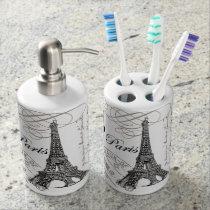 modern vintage Eiffel Tower Bath Set