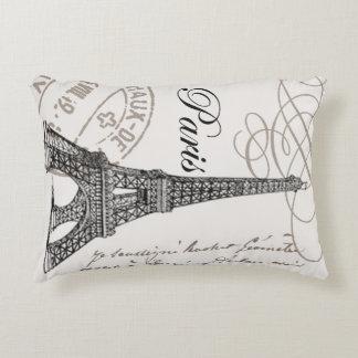 modern vintage Eiffel Tower Decorative Pillow