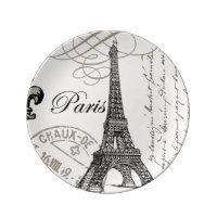 modern vintage Eiffel Tower. Porcelain Plates  sc 1 st  Zazzle & Paris Eiffel Tower Plates | Zazzle